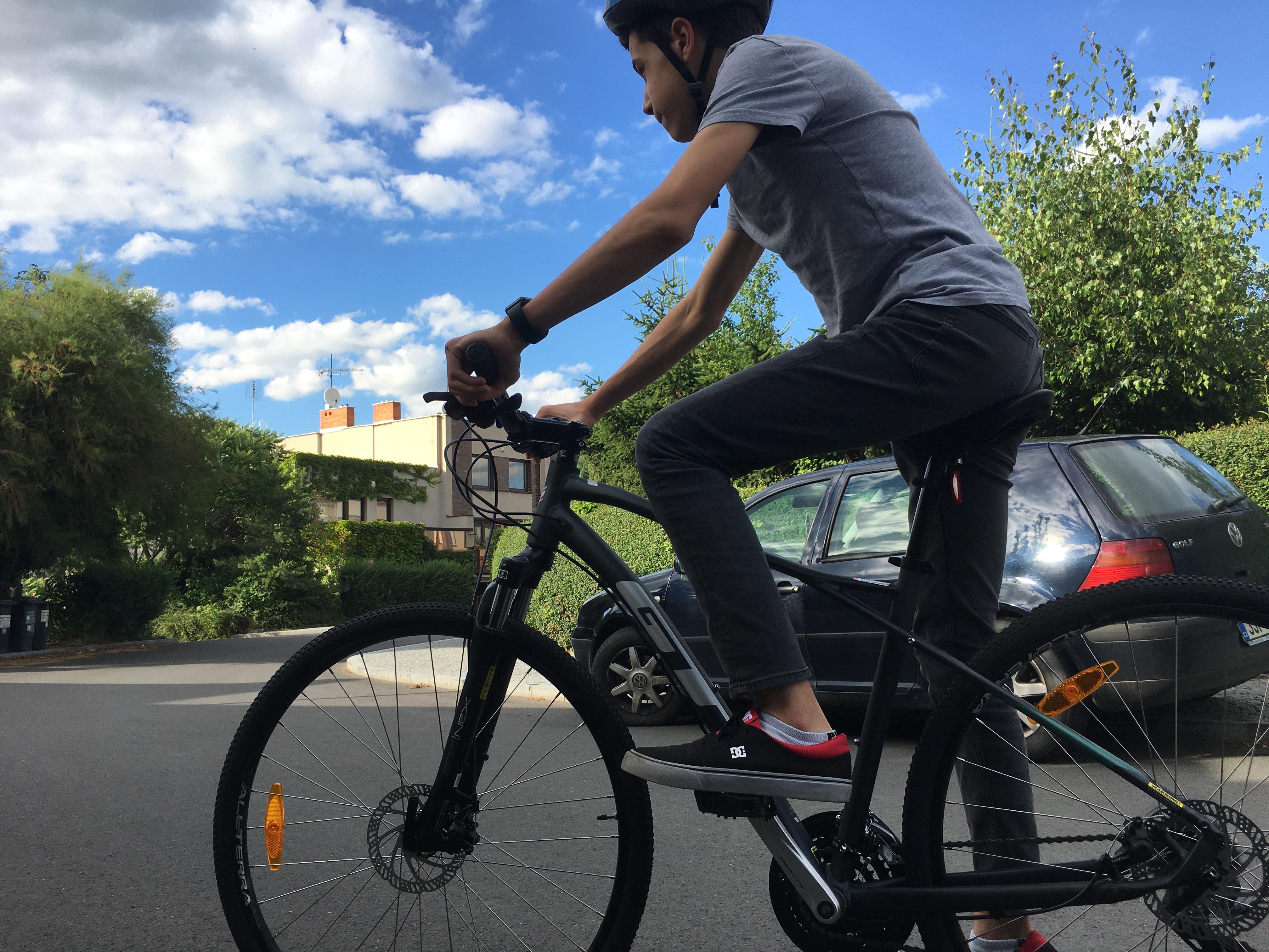 biking around the neighborhood