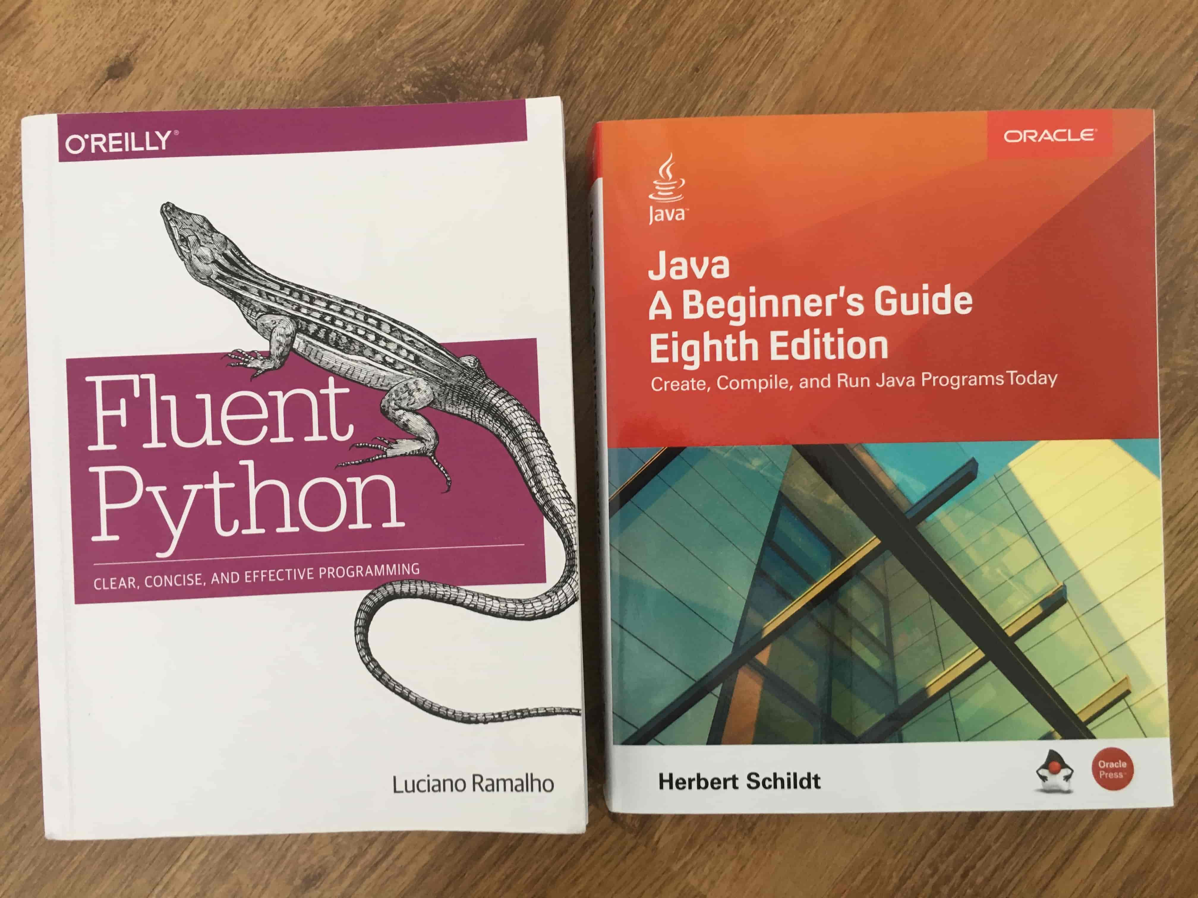 java book and python book
